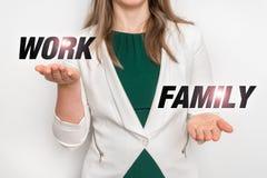在工作和家庭之间的个人选择 库存图片