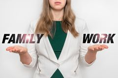 在工作和家庭之间的个人选择 免版税库存图片