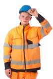 在工作服的建造者 免版税库存图片