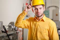 在工作期间的工程师 免版税库存照片