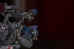 在工作的摄象机 免版税库存图片