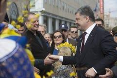 在工作访问期间的乌克兰总统波罗申科到Washingt 免版税库存照片