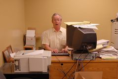 在工作 免版税库存图片