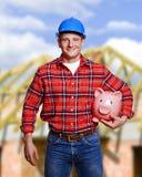 在工具白色工作者的背景 建筑,整修概念 免版税库存图片