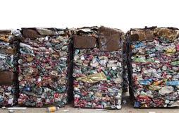 在工厂回收铝罐 库存照片