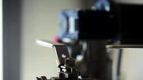 在工厂工业机械的机制 股票录像