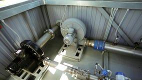 在工厂工业机械的管道 股票录像