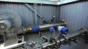 在工厂工业机械的管道 影视素材