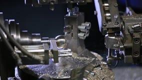 在工厂的技术机器 处理细节 股票录像