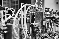 在工厂的机器零件 库存照片
