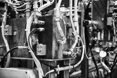 在工厂的机器零件 库存图片