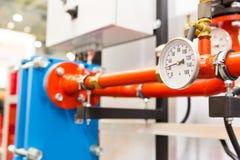 在工厂的热量单位 免版税图库摄影