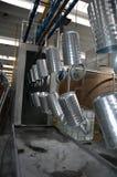 在工厂-标示用钢产品 免版税库存照片