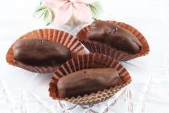 在巧克力的日期 库存照片