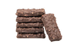 在巧克力的曲奇饼 免版税库存图片