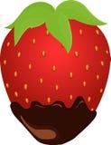 在巧克力的草莓 免版税图库摄影
