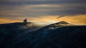 在巨人山的日落 免版税库存照片
