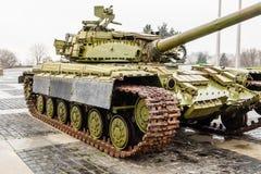 在巨大爱国战争在基辅, U的纪念品的装甲的坦克 库存照片