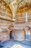 在巨大浴里面的废墟在别墅艾德里安娜, Tivoli 库存照片