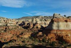 在巨石城,犹他附近的峡谷风景 免版税库存图片