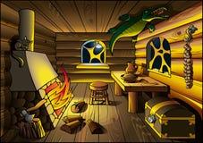 在巫婆里面的房子 免版税库存图片