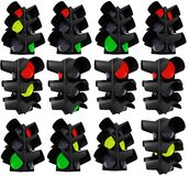 在差异的红绿灯 免版税库存照片
