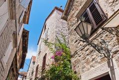 在已分解的街道,克罗地亚 免版税库存图片