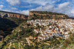 在巴伦西亚附近的山村丘利利亚 免版税图库摄影