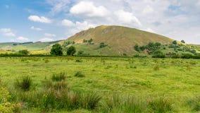 在巴克斯顿,英国,英国附近的镀铬物小山 图库摄影
