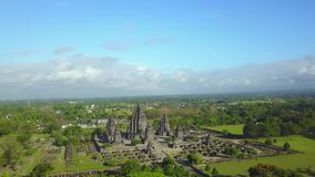 在巴兰班南寺庙的美好的空中风景 股票录像