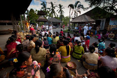 在巴厘岛的新年度,印度尼西亚 免版税库存照片