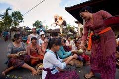 在巴厘岛的新年度,印度尼西亚 图库摄影