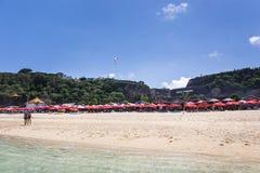 在巴厘岛的Pantai Pandawa海滩 库存图片