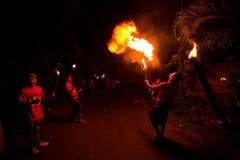 在巴厘岛,印度尼西亚的新年度晚上 图库摄影
