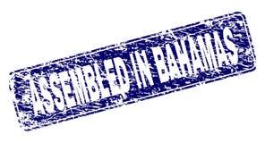 在巴哈马装配的难看的东西构筑了被环绕的长方形邮票 向量例证