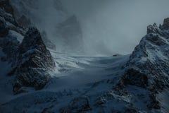 在巴塔哥尼亚智利的山聚焦 库存照片