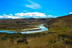在巴塔哥尼亚的谷 免版税库存照片