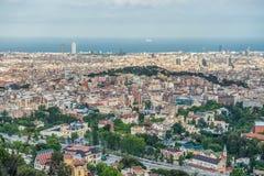在巴塞罗那的看法 库存图片