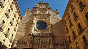 在巴塞罗那附近的Mountserrat修道院 库存图片