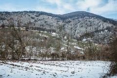 在巴尔干的山脉在雪下 库存照片