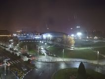 在巴拉卡尔多的夜 库存照片