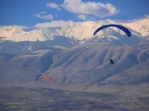 在巴拉的飞行滑翔机马其顿 库存照片