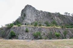 在巴拉顿湖,匈牙利附近的Hegyestu地质陈列站点 免版税库存图片
