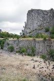 在巴拉顿湖,匈牙利附近的Hegyestu地质陈列站点 免版税图库摄影