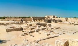 在巴林堡垒的古老废墟 科教文组织世界遗产 免版税库存图片