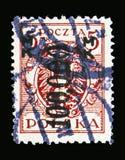 在巴洛克式的盾,通货膨胀的老鹰套印serie,大约1923年 免版税库存照片