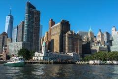 在巴特里公园的码头A,纽约 库存图片