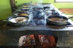 在巴西村庄的午餐 库存图片
