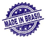 在巴西邮票封印做的被抓的织地不很细 皇族释放例证