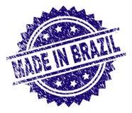 在巴西邮票封印做的被抓的织地不很细 向量例证